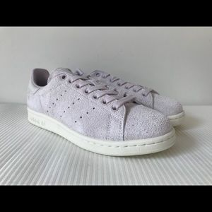Adidas Stan Smith Textured Suede Purple Sneakers